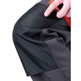 Munkaruha nadrág EMERTON fekete-narancs