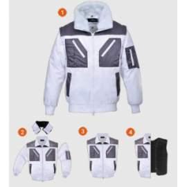 Téli kabát (fehér-szürke) 3in1